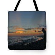 Atlantic Sunset Fishing Tote Bag