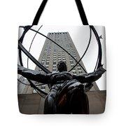 Atlas New York City Tote Bag