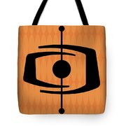 Atomic Shape 1 On Orange Tote Bag
