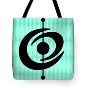 Atomic Shape 2 On Aqua Tote Bag