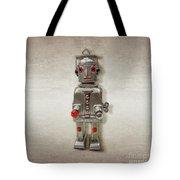 Atomic Tin Robot Tote Bag