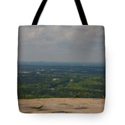 Atop Of Stone Mountain Tote Bag