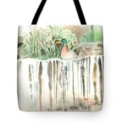 Atop The Waterfall Tote Bag