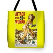 Attack Of The 50 Ft. Woman Poster Tote Bag