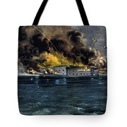 Attack On Fort Sumter Tote Bag