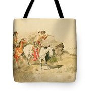 Attack On The Muleteers Tote Bag