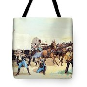 Attack On The Supply Train 1885 Tote Bag