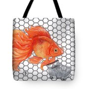 Attention Goldfish Shoppers Tote Bag