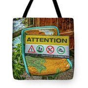 Attention Vernazza Trail Head Italy Dsc02657 Tote Bag