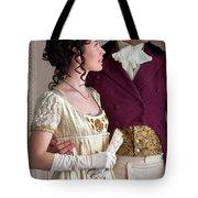 Attractive Regency Couple Tote Bag