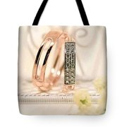 Attractive Wedding Ring Tote Bag