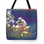 Atv Racing Tote Bag
