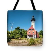 Au Sable Point Lighthouse Tote Bag