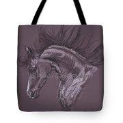 Aubergine Arabian Iv Tote Bag