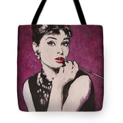 Audrey Hepburn - Breakfast Tote Bag