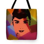 Audrey Hepburn Pop Art 1 Tote Bag