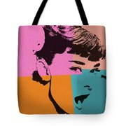 Audrey Hepburn Pop Art 2 Tote Bag