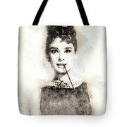 Audrey Hepburn Portrait 01 Tote Bag