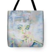 Audrey Hepburn - Watercolor Portrait.16 Tote Bag