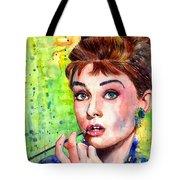 Audrey Hepburn Watercolor Tote Bag