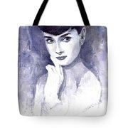 Audrey Hepburn  Tote Bag by Yuriy  Shevchuk