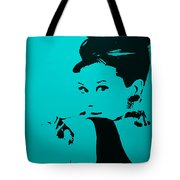 Audrey Light Blue Tote Bag
