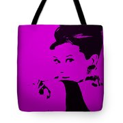 Audrey Purple Tote Bag