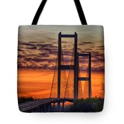Audubon Bridge Sunrise Tote Bag