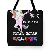 August 21 Solar Total Eclipse Funny Dabbing Unicorn Tote Bag