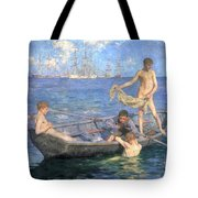 August Blue Tote Bag