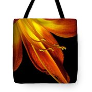 August Flame Glory Watercolor Tote Bag