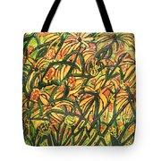 August Floral Tote Bag