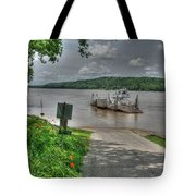 Historic Augusta Ferry. Tote Bag