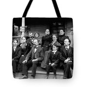 Aunt Deb, Emma, Uncle Lorin, Cousin Walter,  Charles And Leslie Tote Bag