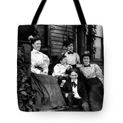 Aunt Emma, Morris, Edith, Fred And Charles On Porch June 12, '97 Tote Bag