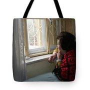 Aunt Leila - Watching Over The Neigbourhood Tote Bag
