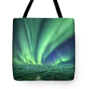 Aurora At Glacier Lagoon Tote Bag