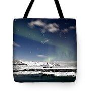 Aurora At Glacier Lagoon Tote Bag