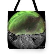 Aurora Borealis Over Iceland, Fisheye Tote Bag