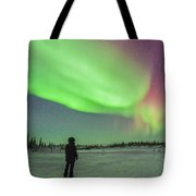 Aurora Borealis With Vega And Arcturus Tote Bag