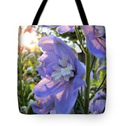 Aurora Light Purple Delphinium And Sunset No. 2 Tote Bag