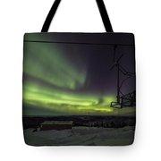 Aurora, Night Sky At Alaska, Fairbanks Tote Bag
