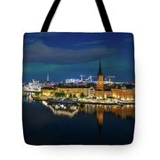 Aurora Over Stockholm In The Fall 2018 Tote Bag