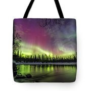 Auroras At The Mill Tote Bag