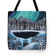 Aurora's Fiery Display Tote Bag