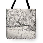 Ausable River At Rock Glen Tote Bag