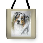 Aussie Shepherd Portrait Tote Bag