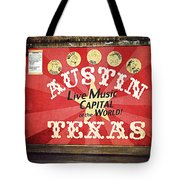 Austin Live Music Tote Bag