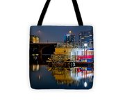 Austin River Boat Tote Bag