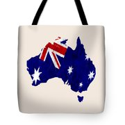 Australia Map Art With Flag Design Tote Bag